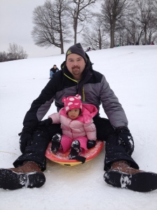 Sledding with Daddy!